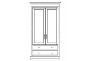 Шкаф СИНЬОРИА 2х дверный Ш-022